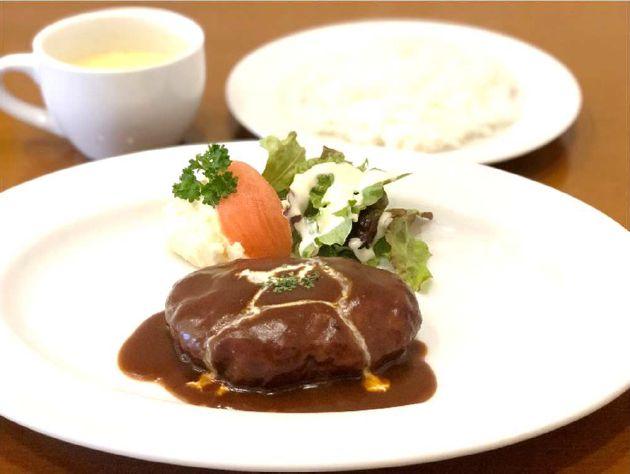 姫路肉汁ハンバーグランチセット