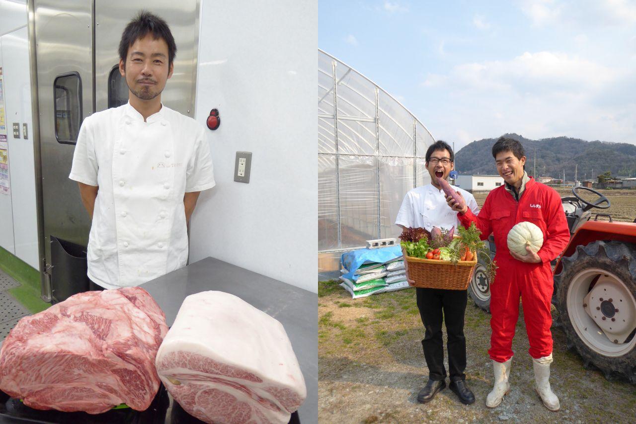 肉類と新鮮野菜