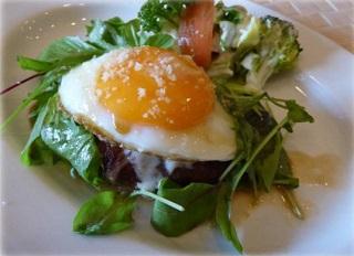 サラダ姫路肉汁ハンバーグ 醤油ベースのさっぱりオリジナルソースで